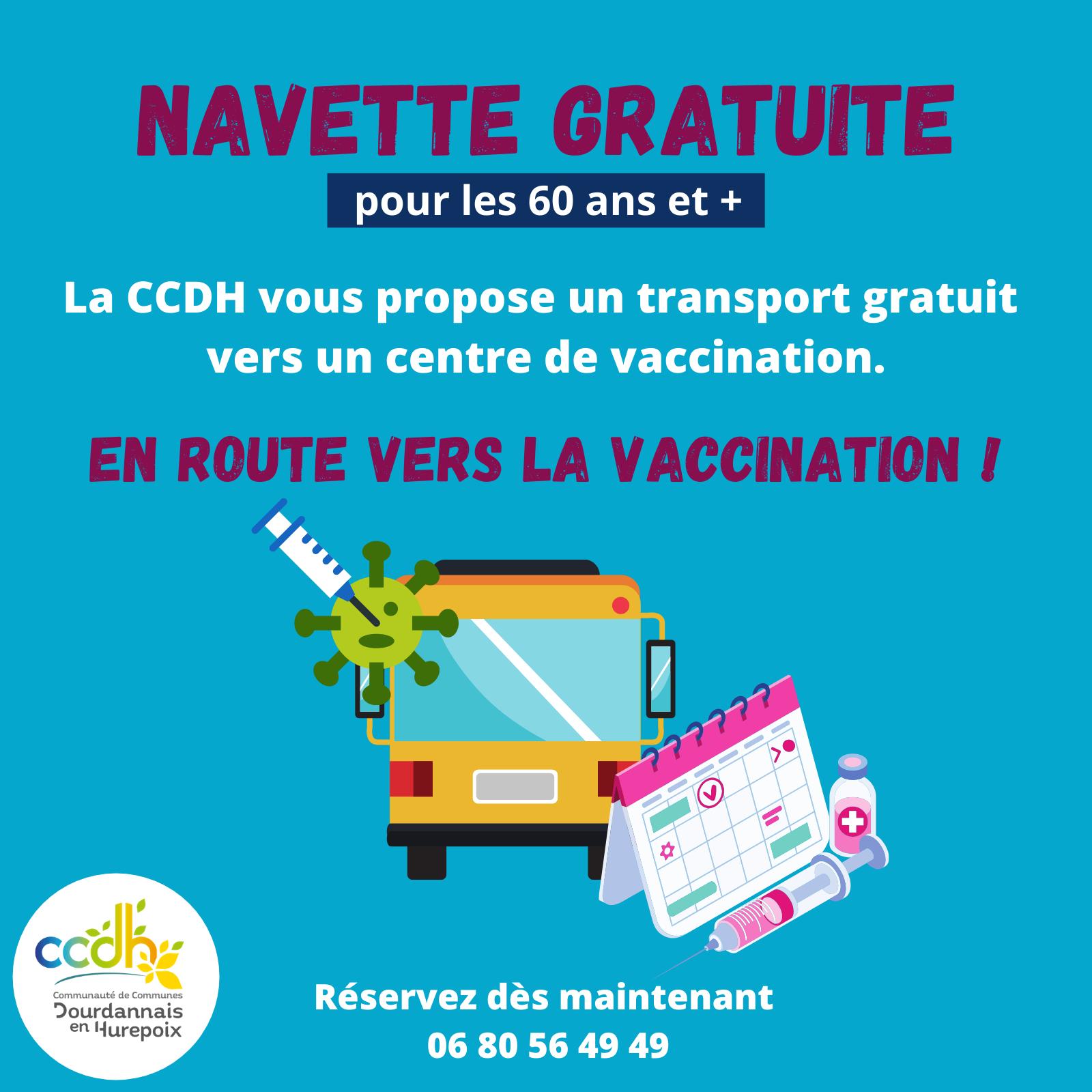La CCDH vous facilite l'accès aux centres de vaccination