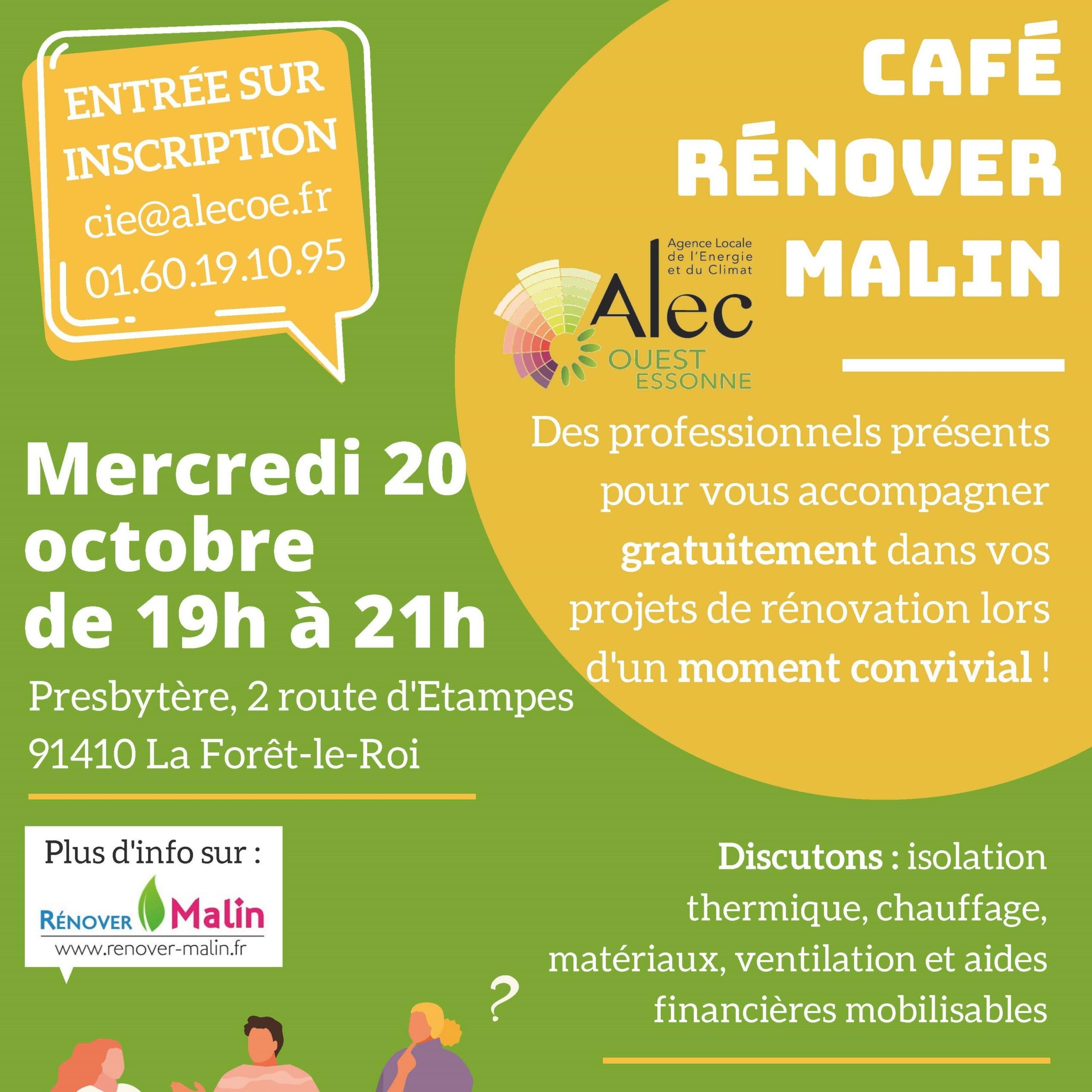 Café Rénover Malin : le rendez-vous pour avancer dans vos projets de rénovation !
